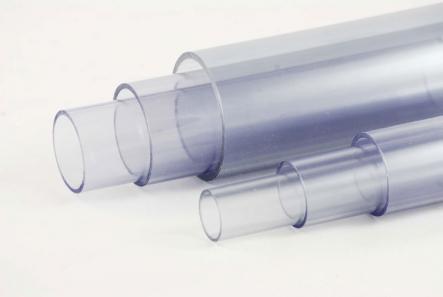 PVC Rohr Transparent 50mm Ø x 2,4mm / 1000mm (+/- 0,5cm) Länge