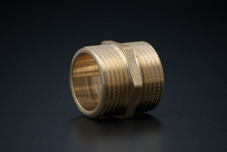 Brass Hexagonal Nipple - 1 Inch / MxM