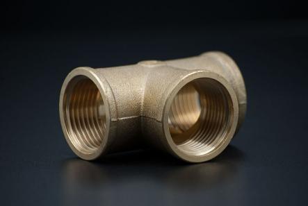 Brass T-Piece - 1 Inch / FxF x F