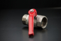 Preview: Brass Ball Valve with red Steelhandle - 3/4 inch / IG x AG