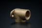 Preview: Brass Wall Plate Elbow - 1/2 x 1/2 Inch / FxF