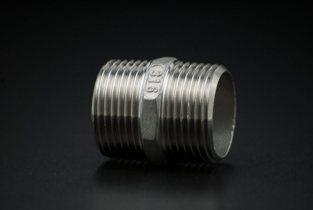 Stainless Steel Nipple - 2 Inch / Male Thread x Male Thread