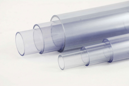 PVC Tube Transparent 50mm Ø x 2,4mm / 500mm (+/- 0,5cm) length