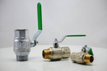 Brass ball valve with drinking water approval DVGW - inside x external thread