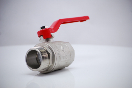 Brass ball valve type P / ISO228 with galvanized steel lever - inside x outside thread