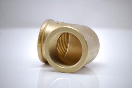 Brass angle 90 degrees No. 90 with internal thread