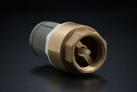 Brass Foot Valve - 1 1/4 inch / F