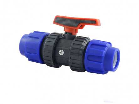 PVC / PE ball valve - PE EPDM ball valve for PE pipe