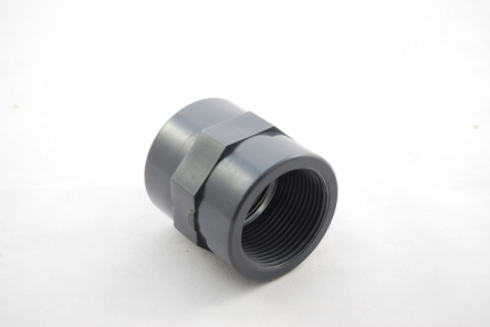 PVC Transition Socket - 40mm x 1 1/4 Inch / Glue Socket x Female Thread