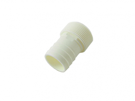 "ABS hose nozzle white 38mm x 1 1/2 ""with external thread"