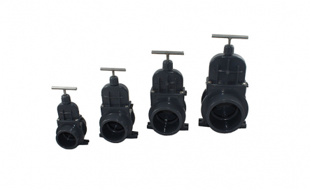 PVC Gate Valve VDL - 50mm x 50mm / Glue Socket x Glue Socket