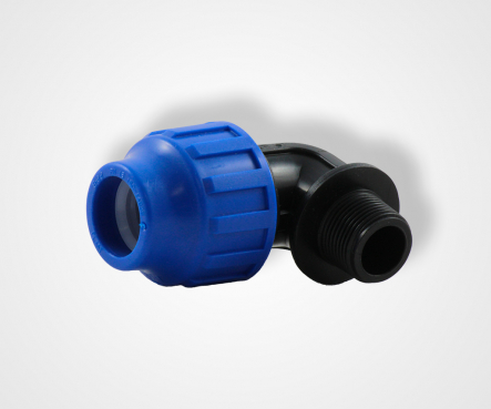 PE Elbow 90 degrees with external thread x PE clamp connector