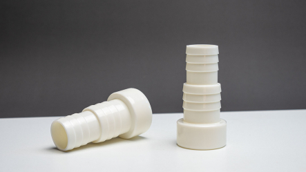 ABS hose nozzle white 32/38 x 50mm spigot