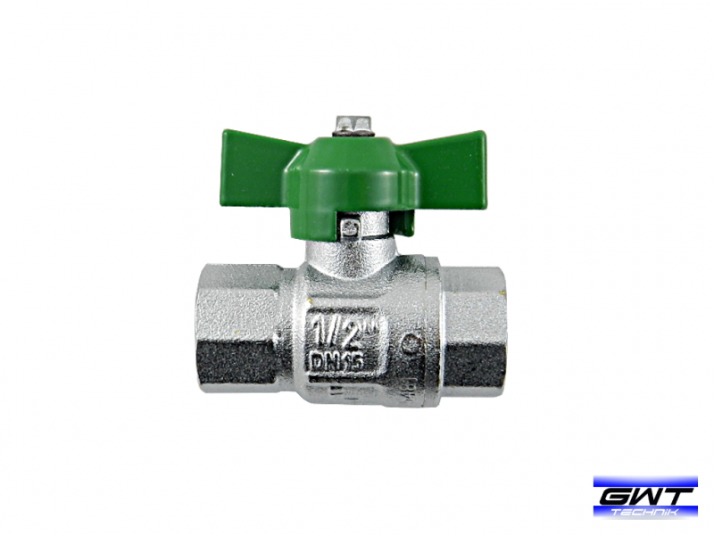 Brass Mini Ball Valve DVGW - 1/2 inch / IG x IG