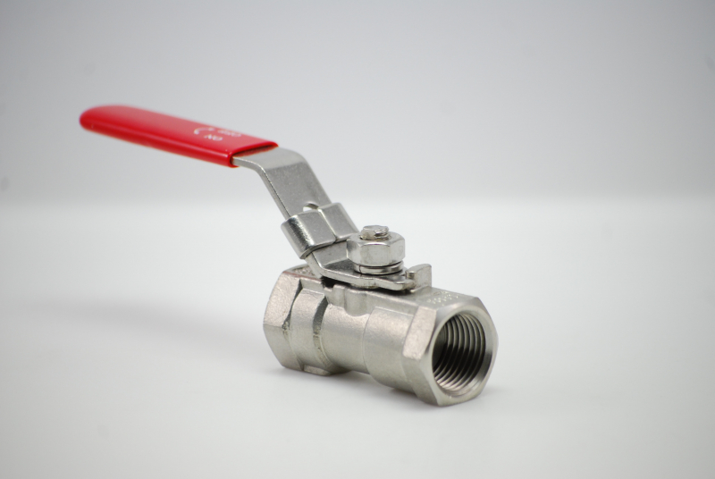 Stainless steel V4A ball valve 1-piece DIN EN 1.4408