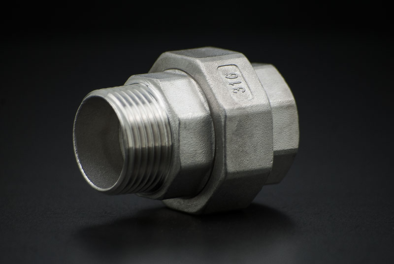 Stainless Steel Union Coupler Conical - 1 1/2 Inch / Female Thread x Male Thread