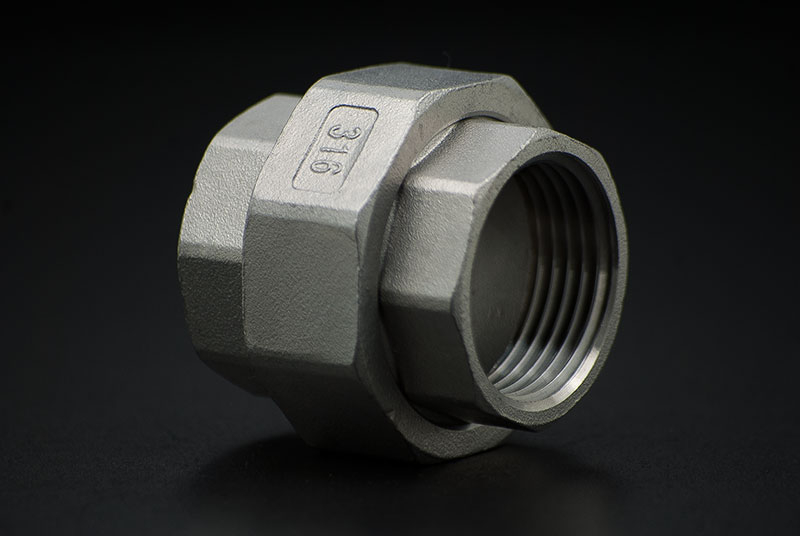 Stainless Steel Union Coupler Conical - 1/2 Inch / Female Thread x Female Thread