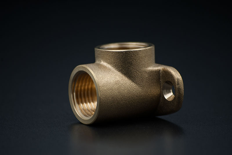 Brass Wall Plate Elbow - 1/2 x 1/2 Inch / FxF