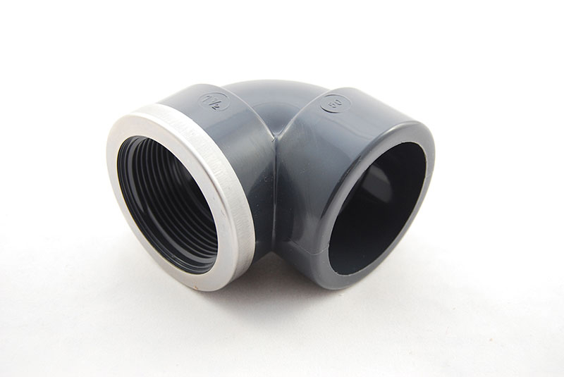 PVC Elbow 90 Degree - 63mm x 2 Inch / Glue Socket x Female Thread VA