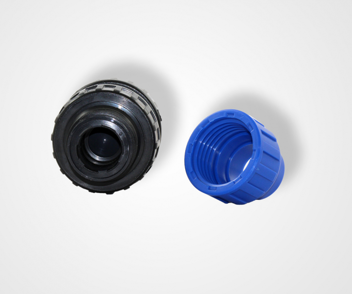 PE pipe check valve PN 16 with clamp fitting